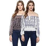Women's Off-Shoulder Printed Blouses