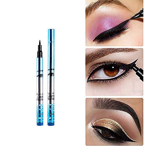 Beauty-Tools,Momoxi NEW Waterproof Beauty Makeup Cosmetic Eye Liner Pencil Black Liquid Eyeliner Pen Holzgriff, farbiges Faserhaar, Mascara, Augenbrauenstift, Eyeliner, Valentinstag, Freundin