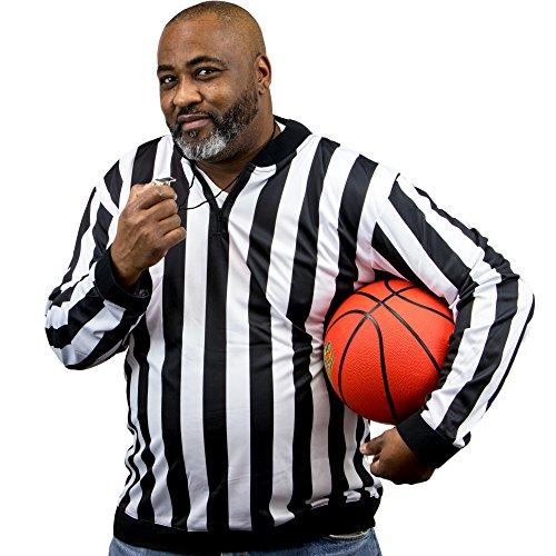 Crown Sporting Goods Herren Gestreift Offizielle Schiedsrichter Shirt/Schiedsrichter Long Sleeve Jersey Uniform, X-Large -