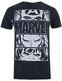 Marvel Men's Hero Eyes Light T-Shirt