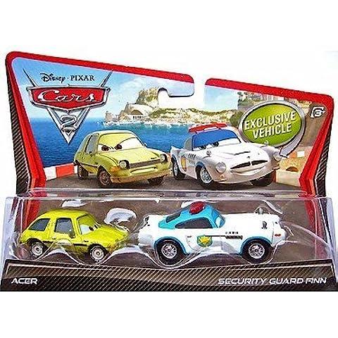 Disney / Pixar CARS 2 Movie 155 Die Cast Car 2Pack Security Guard Finn McMissile Acer by Mattel