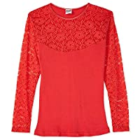 Pierre Donna Full Sleeve T-Shirt for Women - Red