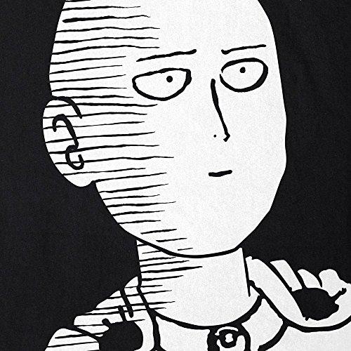 CottonCloud Saitama OK Manga Damen T-Shirt One Punch OPM Schwarz
