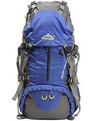 OUTERDO Senderismo Mochila Profesional Macutos de Senderismo 60*30*20 cm Adultos Viajes Camping Escalador con Protector