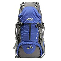Hiking Backpack, OUTERDO 50L Camping Rucksack/Travel Backpack/Trekking Rucksacks/Casual Daypack Knapsack Bag with Rain Cover for Outdoor Sport Climbing Mountaineer 60 x 30 x 20 cm Blue