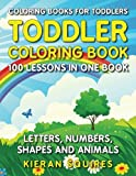 coloring books for toddlers 100 images of letters numbers shapes and k ...