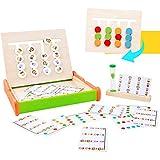 Symiu Montessori Juguetes Puzzles Juego de Madera Juegos Educativos para Infantiles Niños 3 4 5 6 años con Reloj de Arena y Tarjetas de Patrón