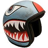 PI Wear Jet Shark Blue sehr kleiner und schmaler Jethelm * auffälliges Design * keine ECE (M)