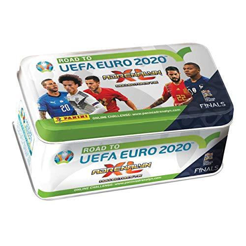 Panini 097559 Sammelkarten Road to Euro 2020, Tin Dose mit 8 Boostern und 2 limitierten Karten, bunt