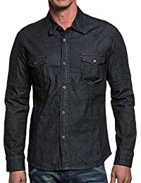 Chemise jean pression homme