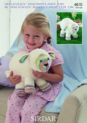 Sirdar Snuggly Snowflake/Baby Crofter DK Knitting Pattern - 4610 Lamb