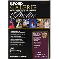 Ilford Galerie Prestige Gold Fibre Silk - Pack 50 hojas de papel A4, color blanco