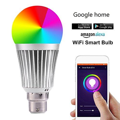 Smart Wifi LED Glühbirne Bulb Lampe Erweiterung,dimmbar, RGB E14 E27 E26 B22 Licht,steuerbar via App 7W Dimmbar Mehrfarbig RGB LED Birne E27 Glühbirnen ändern Stimmung Licht Arbeit