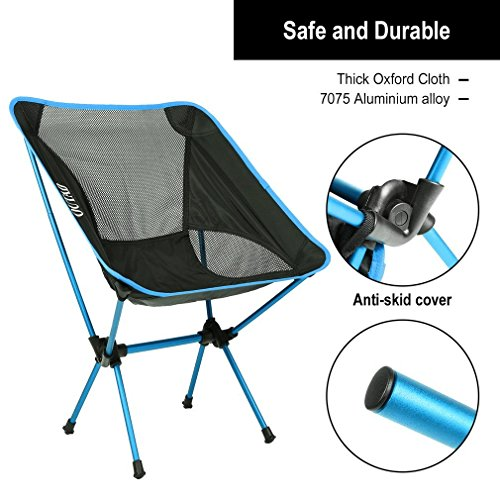 Camping Chair, LESHP 330lb Capacity Lightweight Folding Chair Portable Compact for Backpacking, Hiking, Picnic, Fishing with Carry Bag