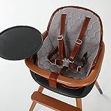 Micuna Ovo Sitzkissen Zubehör für Hochstuhl in Grau / City-Grau, für bequemes sitzen, verkleinert den Sitz, abwaschbar (ab 6 Monate)