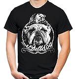 Uglyshirt87 Bulldogge Männer und Herren T-Shirt   Bulldog Englische Französische Hund (Schwarz, XXXXL)
