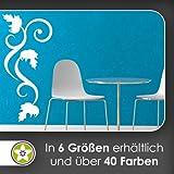 Kiwistar Blätter - Linien Wandtattoo in 6 Größen - Wandaufkleber Wall Sticker