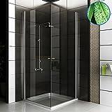 Completo cabinas de ducha Ducha Mampara 80x 80x 195Incluye cristal los arañazos entrega gratuita para puerta de ducha esquina. Baño esquina cabinas de ducha