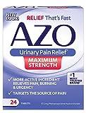 Azo Urinary Pain Relief Maximum Strength, 24 Tablets