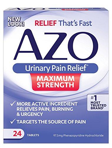 Azo - Urinausscheidende Schmerz-Entlastung Maximum-Stärke - 24 Tabletten (Maximale Stärke Tabletten)