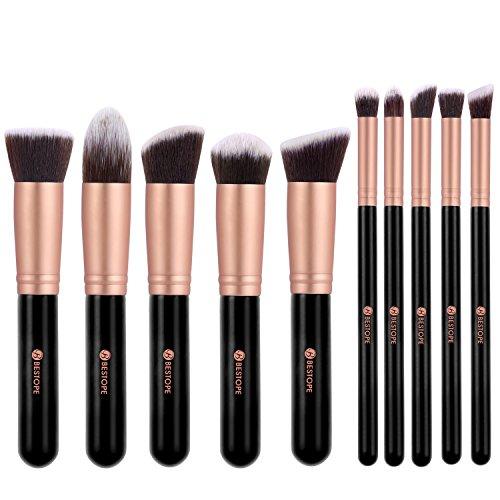 bestope-10-stuck-professionelle-makeup-pinsel-lackierter-echtholzstiel-synthetisches-haar-pinselset-