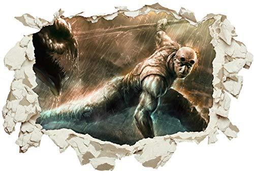 Unified Distribution Chronicles of Riddick Vin Diesel - Wandtattoo mit 3D Effekt, Aufkleber für Wände und Türen Größe: 92x61 cm, Stil: Durchbruch