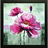 SAF Flower Painting || Floral Painting || Flower Poster || Flower Wall Stickers || SAF Exclusive Framed Wall Art Paintings For Living Room And Bedroom. Frame Size (12 Inch X 12 Inch, (Wood, 30 Cm X 3 Cm X 30 Cm, Special Effect Textured)