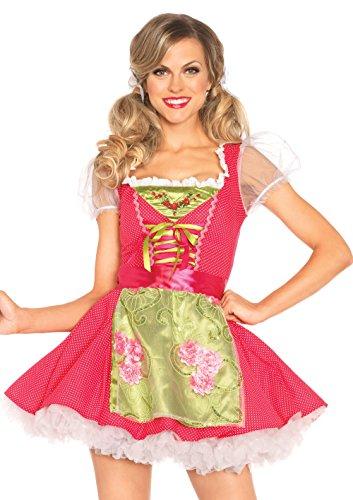 LEG AVENUE 85219 - Beer Garden Gertel Kostüm Set, 2-teilig, Größe L, rosa
