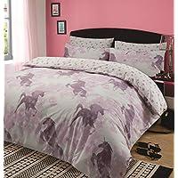 Dreamscene Kids Unicorn Dreams Duvet Cover with Pillow Case Girls Bedding Set Mystical Stars Pink