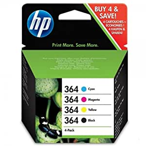 4 Original Ink Cartridges for HP Photosmart B109 - Cyan / Magenta / Yellow / Black (Page Yield: 1150 Pages)
