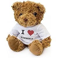 NUEVO - I LOVE KIMBERLY - Osito De Peluche - Adorable Lindo - Regalo Obsequio Cumpleaños Valentine