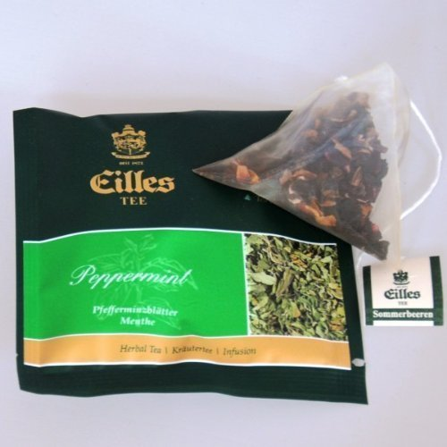 Eilles Tee Pfefferminztee, 10 x 2,5g, Tea-Diamonds, einzeln kuvertiert