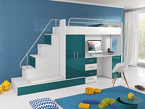 Parisot Etagenbett Bibop : Kinderzimmer doppelbett kinder hochbett etagenbett