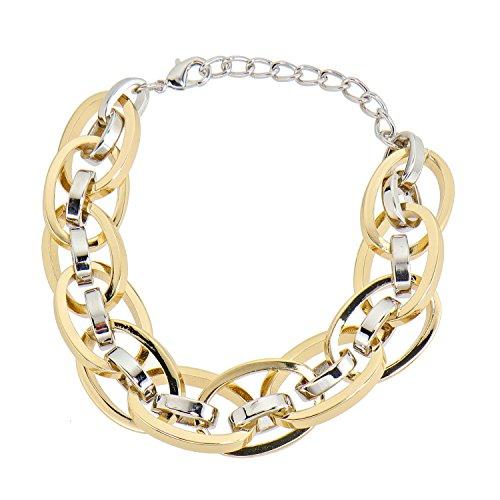 Sarah Kern Modeschmuck Damen-Armband rhodiniert vergoldet