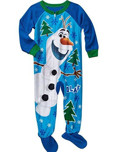 Disney Frozen Olaf Gr??e 4T Fleece Footed Pyjama Decke SCHL?fer - - Footed Pyjamas