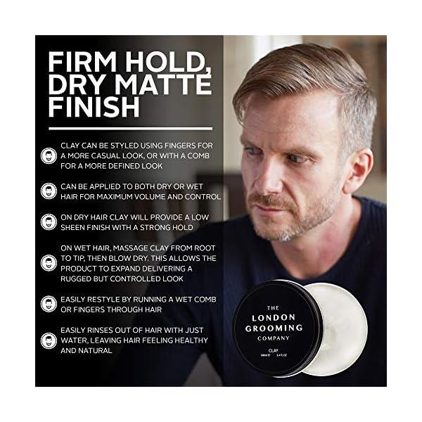 The London Grooming Company Arcilla para Hombres – Fijación Firmme y Acabado Mate Seco – 50 ml / 1,7 fl oz Producto de…