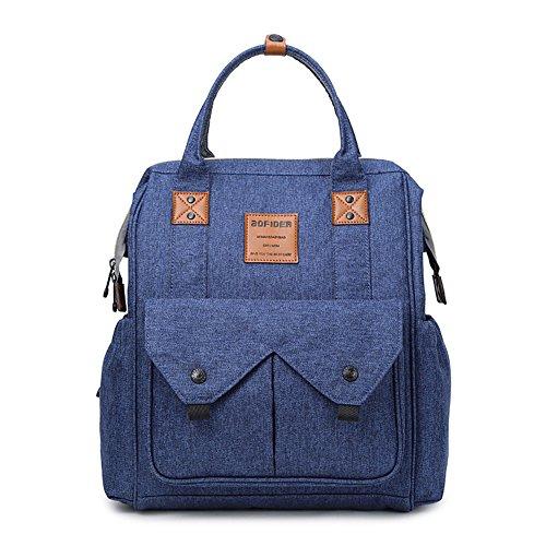 Preisvergleich Produktbild lidch Windel Rucksack spill-repellent Handtasche mit Wickelaufsatz Pad, multifunktionale Oxford Mumienschlafsack mit isolierten Taschen und kinderwagenhalter