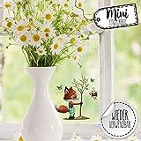 ilka parey wandtattoo-welt Mini-Fensterbilder Fensterbild Ostern Fuchs REH Hase Pusteblume wiederverwendbar Fensterdeko bf31mini - ausgewählte Farbe: *bunt* ausgewählte Größe: *9. Fuchs pflanzt Baum*