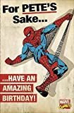 Spiderman Geburtstagskarte, Text: For Pete's Sake Have An Amazing Birthday! Marvel Comics Geburtstagskarte