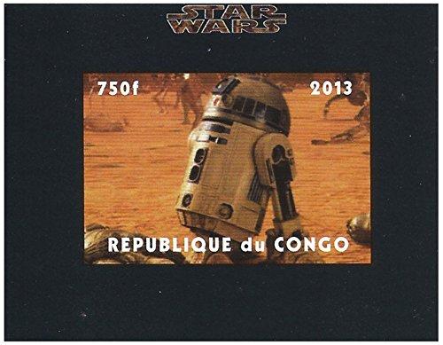 Star Wars Briefmarke - R2-D2 nicht perforierte Blech - Superb Zustand und frisch - 2013 / Kongo / 750F (Perforierte Bleche)