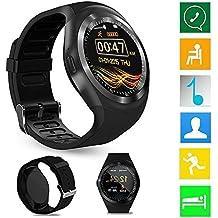Smart Watch Phone Y1 Bluetooth 3.0 Smart Watch HD IPS Pantalla táctil redonda Reloj con teléfono celular Soporte SIM & Tf Tarjeta desbloqueada Reloj celular ...