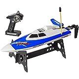 Top Race® Barco de Velocidad con Control Remoto, Juguete Perfecto para Piscinas y Lagos TR-800 (Varios Colores)
