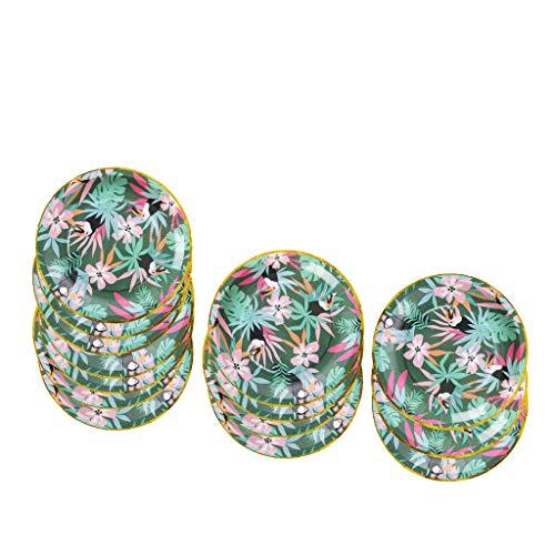 til Einwegteller Pappteller Kuchen-Obst-Süßigkeiten Teller, ca. 33x 33 cm ()