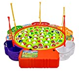 #3: Toyshine Fish Catching Game Big with 45 Fishes and 5 Sticks, Includes Music, Assorted Color