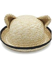 07204bb14823f1 JiuRui Cappelli e Berretti, Cappello da Sole da Donna Primavera Estate, Cappello  da Rafia