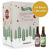 Foodist Bier Adventskalender 24er Craft Beer Geschenkidee (24 x 0.33L) mit ausgefallenen Biersorten aus der ganzen Welt - inkl. Bier-Tasting Anleitung (Craft Beer 2019)