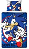 Character World 135 x 200 cm Sonic the Hedgehog Sprint Single Panel Duvet Set, Multi-Colour