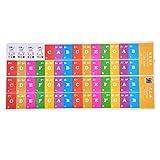 Dilwe Abnehmbarer Klavier Aufkleber, Klavier musikalische Tastatur Schlüssel Aufkleber für Kinder Anfänger(Multicolor)