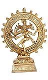 Dio indù Shiva Nataraja Ballando Brass Statua per la casa tempio Mandir 11.5 pollici