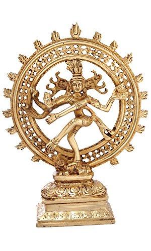 Hindu Gott Shiva - tanzende Nataraja Statue, für Heimattempel, Mandir 29,5 cm